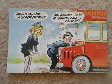 G142 Bamforth PC Saucy Lady bus conductor UMORISMO Would You Like a vite autista