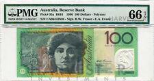 1996 AUSTRALIA $100 BANKNOTE FRASER EVANS PICK 55A - CERTIFIED PMG 66 EPQ GEM UN