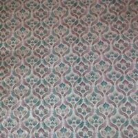 VICTORIAN BURGUNDY AND GREEN DAMASK ON GOLD SILK  WALLPAPER-1 DOUBLE ROLL