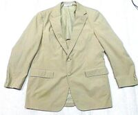 BROOKS BROTHERS tan blazer COTTON sportscoat