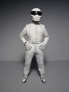 1/18 FIGURE  WHITE STIG  TOP GEAR  VROOM  UNPAINTED  FOR  GT SPIRIT  MINICHAMPS