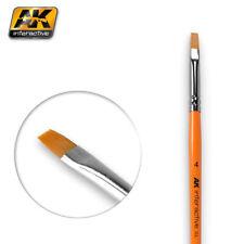 AK Interactive AK610 Pennello piatto misura 4 per la miscelazione, dissolvenza & Strisce