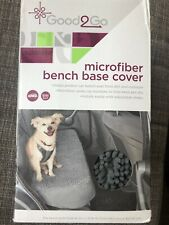 New Nib Dog Seat Cover Microfiber Bench Cover Car Gray with Adjustable Straps
