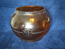 RARE Amber GE Street Light Globe General Electric Proto Type