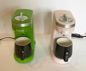 CHULUX QF-CM801 Single Serve Coffee Maker - Green and Pink 57 each
