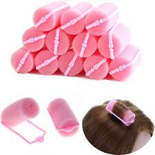 12 Pcs Rose Boucle Doux Éponge Mousse Cheveux Bigoudi Rouleau