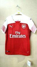 Puma Children's Arsenal Fc Home Shirt Replica Ss Mit Epl Sponsor Logo 9-10