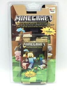 Minecraft collectible sticker-cards Blister contenant 3 boosters neuf IMC TOYS