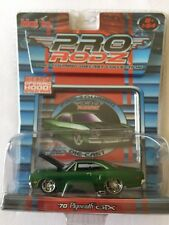 Maisto Pro RodZ '70 1970 Plymouth GTX Green Die-Cast 1/64 Scale Opening Hood!
