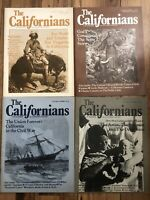 The CALIFORNIANS Magazine - Lot Of 4 Mar/April 1985, Jan/feb 1985,sept/Oct. 84..