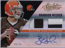 2013 Absolute Memorabilia Brandon Weeden Auto Dual 2 Color Jersey /10