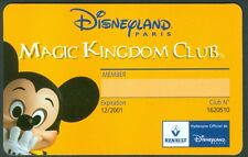 PASSEPORT DISNEYLAND  MAGIC KINGDOM CLUB RENAULT  TRES BON ETAT  N°131