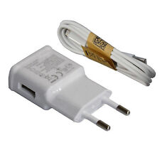New EU Euro 1A Plug Wall Charger Adapter USB Data Cable For Samsung Galaxy S3 S4