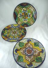 "(3) Talavera Venegas Mexican Pottery 11.5"" Dinner 
