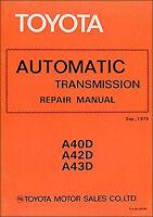 1978-1982 Toyota Automatic Transmission Shop Manual A40D A43D Cressida 81 Supra