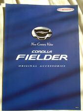 Toyota Corolla Fielder Original Accessories brochure c2001 Japanese text