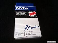 Brother tc401 banderole cassette 7,7m 12mm noir/rouge pour p-touch, tc-401, NEUF