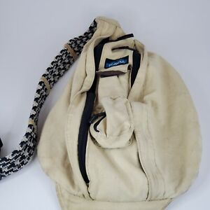 Kavu Beige Brown Rope Bag Khahi Backpack Sling