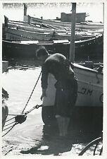 ÎLE DE MAJORQUE c. 1935 - Bateaux, Marin au Port de Pollença  Espagne - Div 6400