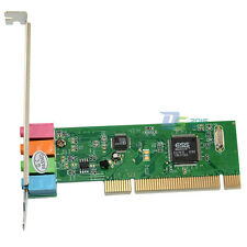 PCI 4 Channel Surround 3D Audio Stereo Internal Sound Card Adapter for Desktop