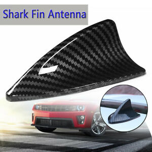 Universal Carbon Fiber Look Roof Shark Fin Antenna Decorate Aerial Cover Sticker