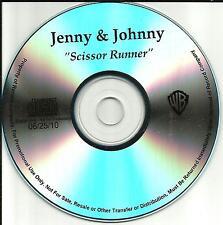 Rilo Kiley JENNY & JOHNNY TST PRESS PROMO DJ CD Single Johnathan Rice Lewis 2010