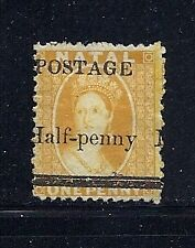 NATAL 1877 QV Scott 61 1/2d yellow UNUSED no gum