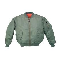 Bomber Jacket Sage Green Fox Outdoor Nylon MA-1 Men's Military Flight Medium NEW