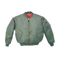 Bomber Jacket Sage Green Fox Outdoor Nylon MA-1 Men's Military Flight Medium NEW