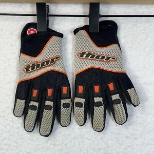 Thor Motocross Gloves Youth Medium 7/8 Gray Slip On Offroad Dirtbike Motocross