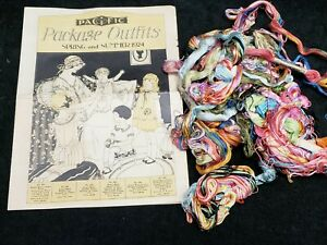 Vintage LOT Embroidery Floss Nunn DMC 1924 Pacific Package Outfits Catalog Flyer