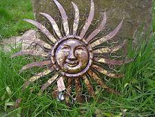 Wandbild Sonne aus Metall, ca. 48 x 48 cm, Gartendeko, Wandbild, Innendeko