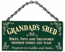 NEW Grandads Shed Bikes Toys Treasures Mended Home and Garden Metal Sign