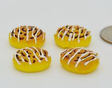 Set 4 Dollhouse Miniature Colletible Toy 1: 6 Cinnamon Bun Bakery Food Grocery