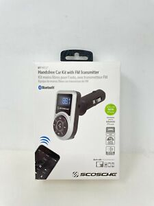 Scosche Handsfree Car Kit with FM Transmitter with Bluetooth - NEW