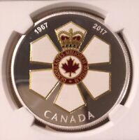 2017 CANADA ORDER OF CANADA $20 NGC 69 Ultra Cameo - 6 in Higher Grade - Silver