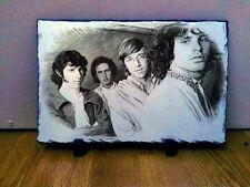 """THE Doors Jim Morrison Disegno Arte Ritratto in Ardesia 8x6"""" RARA cimeli"""
