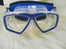 New listing seadive  snorkel goggles CLEAR scuba diving mask with head band blue