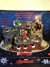 MARVEL AVENGERS CHRISTMAS VILLAGE ILLUMINATED STREET SCENE