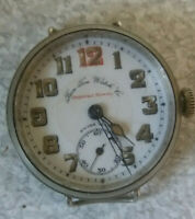 ANTIQUE / VINTAGE MILITARY TRENCH WATCH - IMPERIAL SERVICE- BON TON WATCH CO