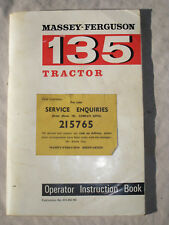Massey Ferguson 135 Manual for Red Fergy Vintage Tractor 35 65 165 grey