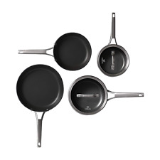 Calphalon 2052667 Premier Hard-Anodized Nonstick 6-Piece Cookware Set, Black