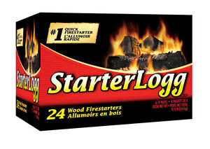 Pine Mountain StarterLogg 24pc Firestarter Fireplace Campfire Wood Stove Pit