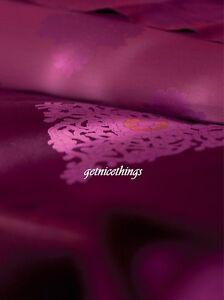 New $720 Yves Delorme Reflet Rubino King Duvet Cover Medallions Sateen Jacquard