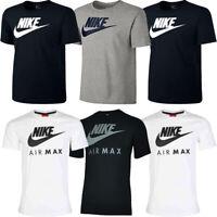 Nike Mens Crew T Shirt Tops Air Max T-Shirt TShirt Black White Cotton Size M L