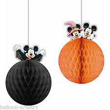 2 halloween disney mickey mouse party hanging honeycomb balls décorations