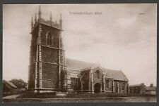 Postcard Alford Lincolnshire early view of St Wilfred's Church RP