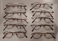 Vintage 10 Pc. Deja Vu Assorted Metal Styles Eyeglass Frame Lot Nos #247M
