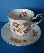 "Vintage Paragon ""Pitcher Plant"" Canadian Provincial Flowers Tea Cup and Saucer"