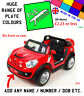 Personalised Kids number plate for 12V Electric MINI Beachcomber ride on car toy